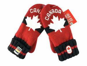 2018 PyeongChang Olympic Team Canada Hudson's Bay Red Mittens CANADA Adult S M