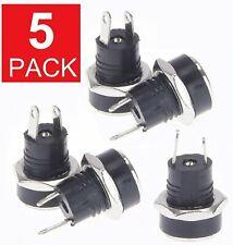 5PCS 5.5mm x 2.1mm DC Power Supply Female Jack Socket Panel Mount Connector M81