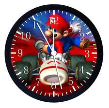 Super Mario Black Frame Wall Clock W56