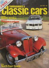 Classic Cars 05/1983 featuring BMW 3.0 Coupe, Ford Mustang Capri, Lamborghini