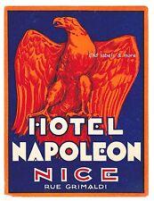 Hôtel Napoléon Nice Côte d'Azur luggage label Valise Autocollant – Imbert-x1815