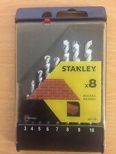 Stanley 8 un. albañilería Drill Bit Set Sta 56040