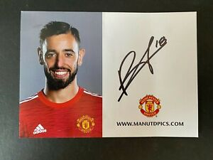 BRUNO FERNANDES - Manchester United FOOTBALLER - SIGNED OFFICIAL PHOTOGRAPH