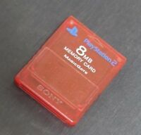 PlayStation 2 8 Mb Memory card Red Used MagicGate