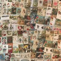 Huge Lot of 400 +++ Holidays Greetings Postcards DAMAGED- SCRAPBOOK CRAFTS!!!!!