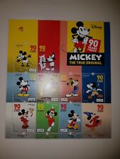 PORTUGAL MICKEY MOUSE - 90 YEARS OF MAGIC MNH SOUVENIR SHEET W/ 8 STAMPS - 2018