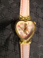 Nice Collectable Barbie Gold Heart Pink Band Mattel Working Watch