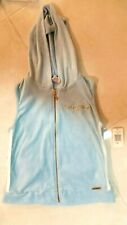 NEW WITH TAG BABY PHAT SEXY SAFARI  WOMENS  VEST JACKET WITH HOOD SIZE M  BLUE