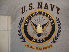 United States Navy Insignia Military A Global Force For Good Gray T Shirt Size S