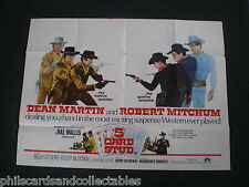 Dean Martin, Robert Mitchum  ' 5 Card Stud '   UK Quad  Film Poster  1968