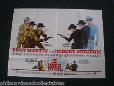 Dean Martin, Robert Mitchum  ' 5 Card Stud '   UK Quad  Film Poster  1968