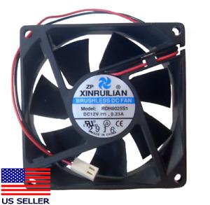 Xinruilian 2-Pin 80mm x 25mm High Speed 12V Case Fan