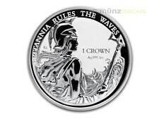 1 Crown Silver Britannia Falkland Islands Inseln 1 oz Silber Reverse Proof 2017