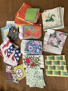 90+ Vintage Retro Paper Serviettes Napkins Decoupage Colourful Crafts 1960s 70s