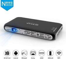 OTHA Mini Android Video DLP Projector 200ANSI Lumens, Bluetooth WiFi Pocket 3D