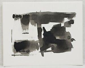 No.04 Original Abstract Modern Minimal Black Ink Painting By K.A.Davis