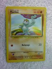 Carte pokémon machoc 52/102 commune set de base wizard mauvais état