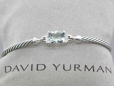 DAVID YURMAN 3MM PRASIOLITE / DIAMOND/SS PETITE WHEATON BRACELET SIZE LARGE NEW