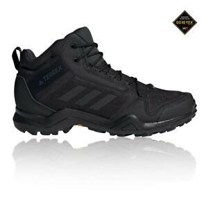 adidas Mens Terrex AX3 Mid GORE-TEX Walking Boots Black Sports Outdoors