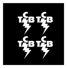 ELVIS TCB 3X4 (SET OF 4) TAKING CARE OF BUSINESS CAR TRUCK WINDOW STICKER DECAL