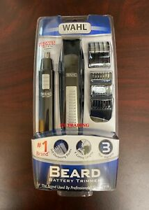 WAHL Nose Ear Body Beard Hair Wet/Dry Battery Precision Blade Trimmer Set ~ NEW