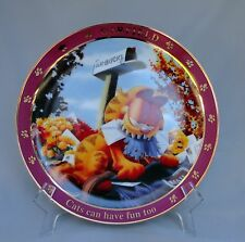 Danbury Mint A Day With Garfield The Cat Collector Plate Cats Can Have Fun Too