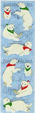 Mrs. Grossman's Stickers - Holiday Bears - Polar Bear w/ scarf, Baby - 4 Strips