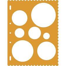 Fiskars Round Circles Sizes Large Card Making Stencil Template Shapecutter Craft