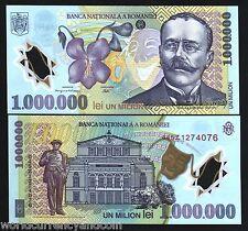 ROMANIA 1000000 LEI P-116 2000-2004 THEATER POLYMER UNC 1,000,000 EUROPEAN NOTE