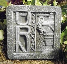 NEW plaster,concrete Roman Urn  with wording plastic  mold