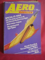 AEROMODELLER FEBRUARY 1985 ELF & FOKKER TRIPLANE PLANS
