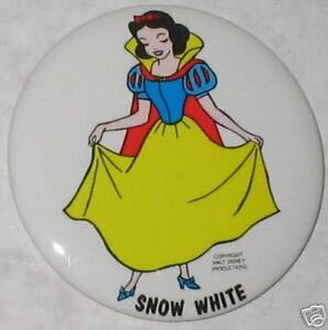 1960's Snow White Pin Walt Disney Productions 3.5""