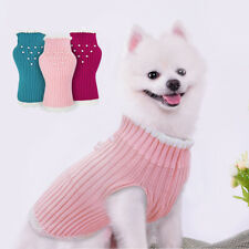 Cute Knitted Pet Sweater for Cats Dogs Girl Puppy Jumper Chihuahua Clothes Pink