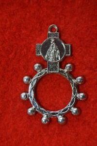Réf 33 Dizainier métal Médaille Miraculeuse chapelet rosaire scout pèlerinage
