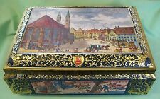 Vintage 1992 E. Ottom Schmidt Germany TIN box Chest Hinged Large Very Decorative