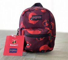 """JanSport Pouch Miniaturized 5"""" Backpack Incredibles 2 LIL Break Family Red/black"""