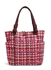 Vera Bradley Hadley Tote Bag In Houndstooth Tweed Nwt