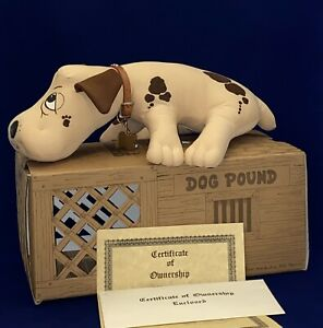 RARE Vintage 1984 POUND PUPPIES Dog EARLY ORIGINAL Signed Mike Bowling 77/1000