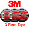 """(3 Rolls) 3M TEMFLEX 1700 ELECTRICAL TAPE BLACK 3/4"""" x 60 FT INSULATED ELECTRIC"""