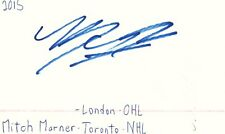 Mitch Marner Toronto Nhl London Ohl Hockey Autographed Signed Index Card Jsa Coa