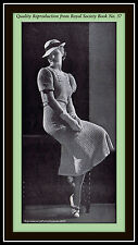 Vtg Gorgeous 30's Crocheted Belted Dress Pattern from Royal Society Book No. 37