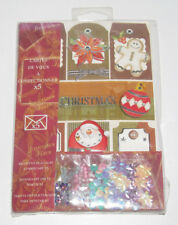 Coffret Set x5 Cartes de Voeux à Confectionner Scrapbooking Joyeux Noël c NEUF