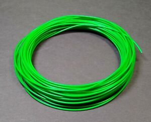 Mil-Spec 20AWG PTFE Green Stranded Silver Plated Wire 1.5 mm Diam - 40 Foot Roll