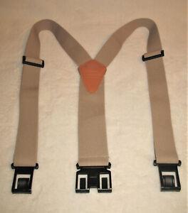 Dickies Men's Perry Adjustable Suspenders - Beige / Khaki / Tan