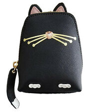 NWT RARE KATE SPADE BLACK CAT COIN PURSE WALLET LIMITED EDITION SAFFIANO LEATHER
