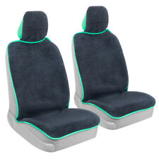2-Pack Towel Car Seat Cover - Waterproof Front Seat Cover with Mint Trim