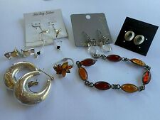 Sterling Silver Mixed Jewelry Lot Ring Bracelet Earrings