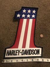Big Harley Davidson Patch Motorcycle USA #1 3D Emblem Logo 8x12