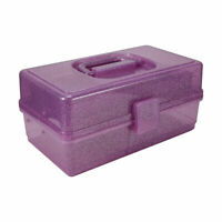 New Glitter Storage Box Purple Arts and Crafts Storage Case Box Container H1