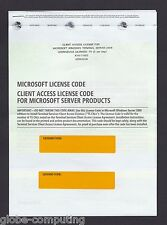 Microsoft Windows Terminal Server 2008 10 CAL User RDS Remote Desktop R2